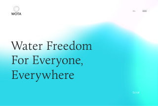 WOTA l Water Freedom for Everyone,Everywhere